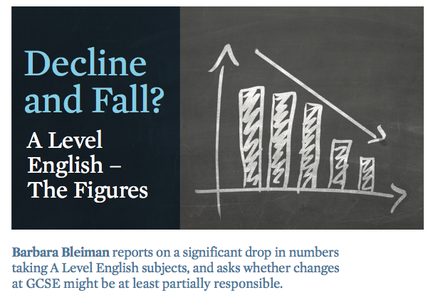 main image for blog post 'EMC Survey: Significant drop in numbers taking A Level English subjects'