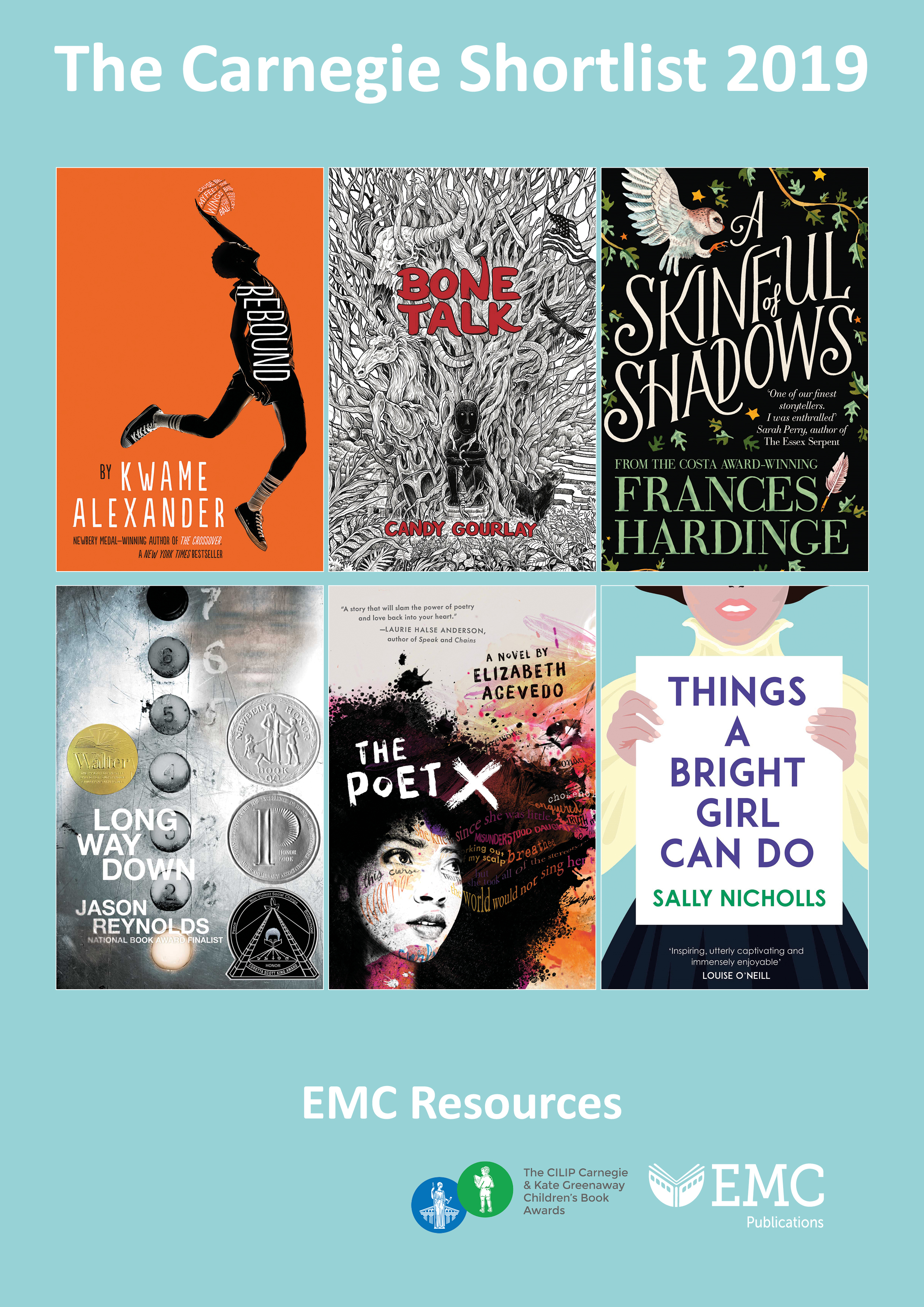 Cover image for The Carnegie Medal Award Shortlist 2019 – Free EMC Resources (Download) [EMC-Free]
