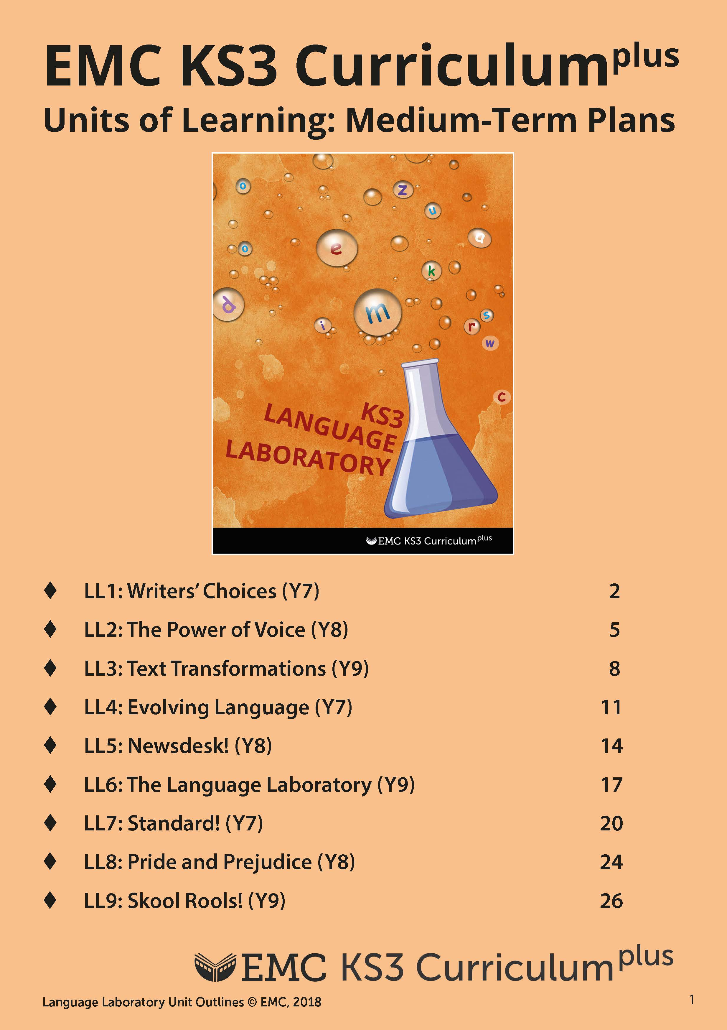 Cover image for KS3 Language Laboratory – Medium Term Planning (EMC_Free) (Download)