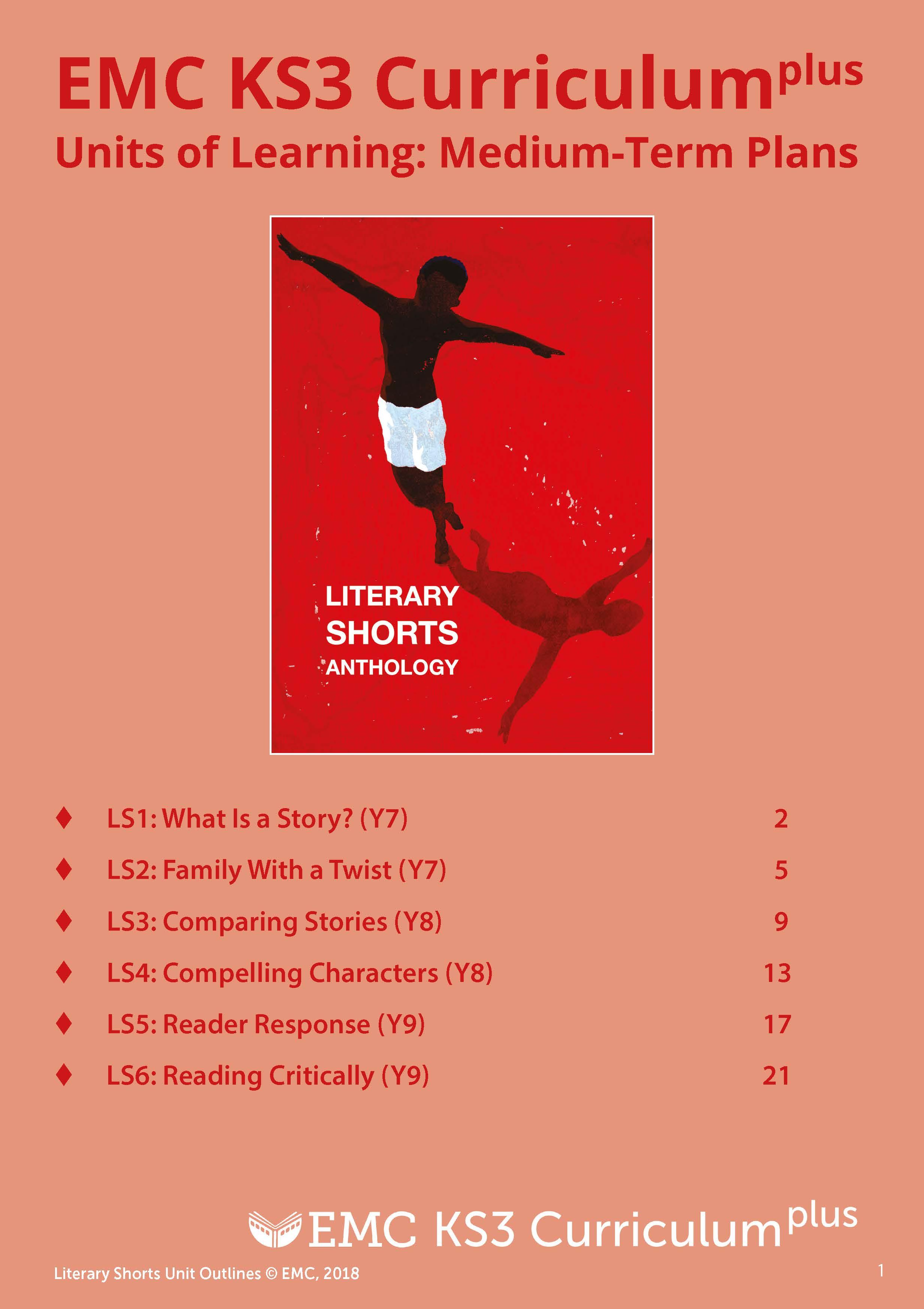 Cover image for KS3 Literary Shorts – Medium Term Planning(EMC_Free) (Download)
