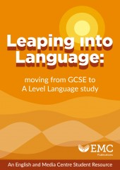 cover image for 00-Leaping into Language: From GCSE to A Level English Language Study [EMC_Free]